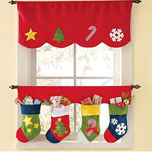 bennyue クリスマスカーテン クリスマス 飾り付け 置...