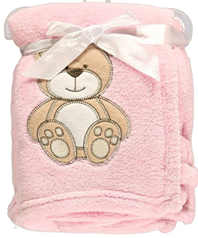 Snugly Baby Teddy Bear Dream Plush Blanket (Pink) by Snugly Baby