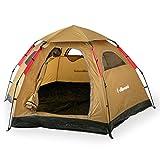Villimetsa テント オートテント ワンタッチ UV95~97%カット メッシュスクリーン 通気性 軽量 4~5人用