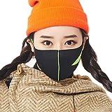LOOKA MASK Protective Fashion Air Mask | Washable and Reusable | Triple Layered Face Mask | Slit Lime (SMALL)