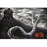 Haunted Mansion by Bobby Holland Halloween Jack O Lanterns Tattoo Fineアートプリント