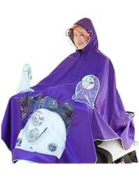 雨具 防水 女性用 通学 便利 パープル 電気自動車 レインコート 大人 薄くて軽い 通気性のある 大きな帽子 ポンチョ