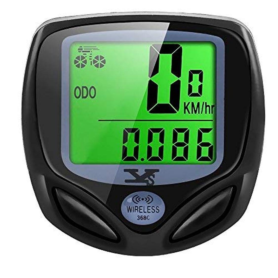 配分アラーム確認してください自転車速度計とワイヤレス防水サイクルバイクコンピュータ走行距離計LCDディスプレイ& multi-functions by YS