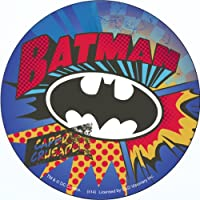 "BATMAN BURST, Officially Licensed Original Artwork, Premium Quality 4"" Round Sticker ラウンドステッカー"