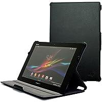 Hy+ Xperia tablet Z専用 ケース カバー(2段階角度調節機能、オートスリープ機能付き) ブラック