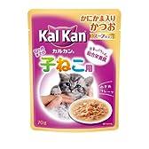 カルカン パウチ スープ仕立て 12ヶ月までの子ねこ用 かにかま入りかつお 70g×16P