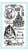 クリスマスソング ~ クリアスタンプ (9x18cm) // Christmas Songs ~ Clear stamps pack (9x18cm) FLONZ