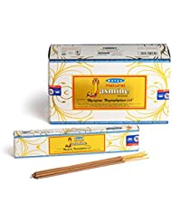 Satya Nag Champa 天然ジャスミン お香スティック Agarbatti 180グラムボックス | 15グラム入り12パック 箱入り | 輸出品質