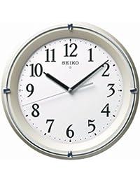 セイコー クロック 掛け時計 自動点灯 電波 アナログ 夜でも見える 薄金色 パール KX381S SEIKO