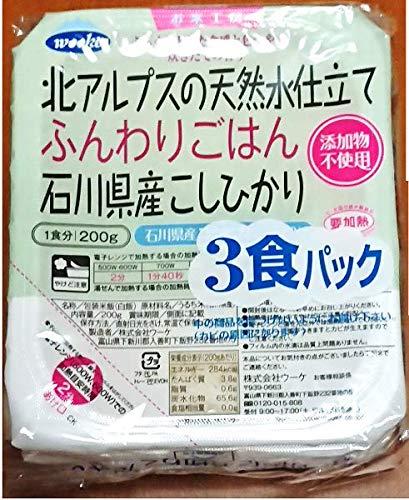 JA全農いしかわ ふんわりごはん 石川県産こしひかり(200g×3個入)×8袋