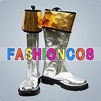 サイズ選択可女性22CM UA0349 スーパー戦隊シリーズ パワーレンジャー Power Rangers シルバー コスプレ靴 ブーツ