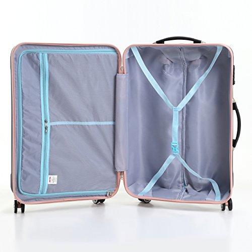 (ムーク)M∞K 超軽量スーツケース TSAロック付き 機内持ち込みSサイズ~Lサイズ (Lサイズ,ネイビー)