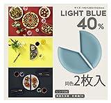 OSK 平皿 パーセントプレート 40% ライトブルー 2枚 PCP-40 2P