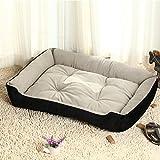 KJshop 犬 ベッド 洗える 猫 ベッド 犬用ベッド クッション (XL, ブラック)