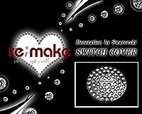 re;make(リメイク)スワロフスキー エンジンスターターボタンスイッチカバー remakeロゴ入り