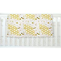 KESS InHouse Stephanie Vaeth Honey Bees White Yellow Fleece Baby Blanket 40 x 30 [並行輸入品]