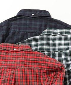 Tartan Buttondown Shirt 11-11-0909-139: Red
