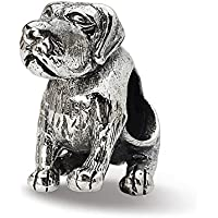 Beautiful Sterling silver 925 sterling Sterling Silver Reflections German Shorthaired Pointer Bead comes with a Free Jewelry Gift