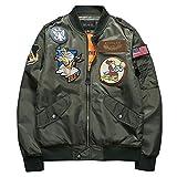 ブルゾン MA-1 ファション 長袖 刺繍 春コート ミリタリー カジュアル モード系