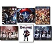 Captain America Civil War Collectors Photo Prints - Set of Six 8x10 Wall Art Posters by BigWig Photos