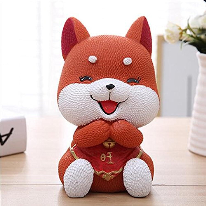HuaQingPiJu-JP 犬のピギーバンクの家の装飾誕生日のギフト(王犬)