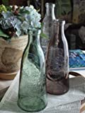 インテリア雑貨 クラシカル ガラスボトル 花瓶 アンティーク調 (グリーン)