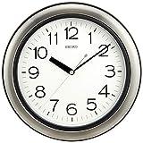 セイコー クロック 掛け時計 アナログ 生活防水 強化防湿 防塵型 キッチン&バス 金属枠 KS463S SEIKO