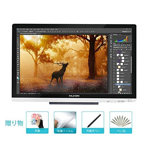 HUION GT-220V2  IPS液晶ペンタブレット フルHD  大画面21.5インチ液タブ  (シルバー)