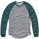 (ホリスター)Hollister メンズ ロングTシャツ ( ロンT ) TEXTURED COLORBLOCK RAGLAN T-SHIRT [並行輸入品]