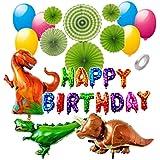 [YUMENOMI] 恐竜 ドラゴン 怪獣 誕生日 飾り セット 風船 バルーン スタンド付き おもちゃ パーティー 装飾 バースデー 男の子 女の子 (カラフル?スタンド【あり】)