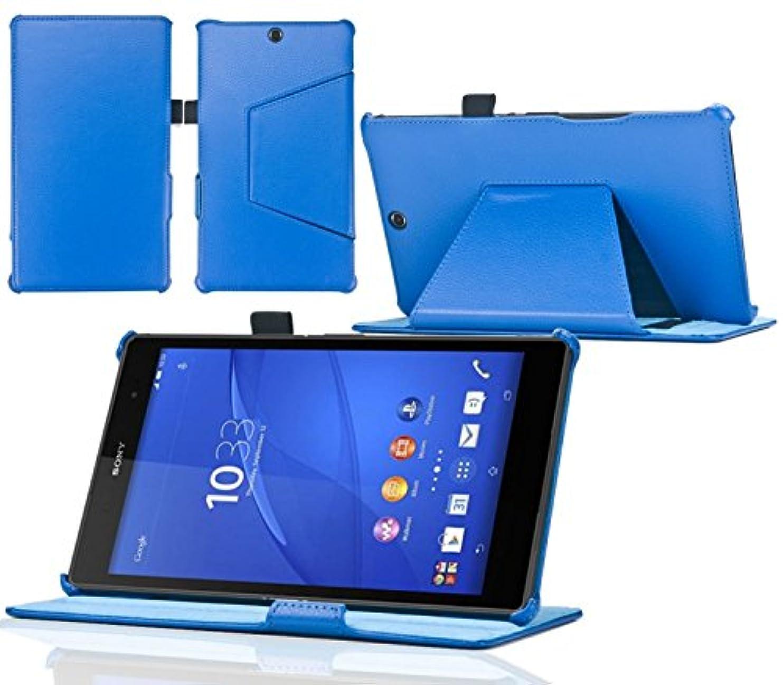 広告するエコー着飾るNavitech London Sony Xperia Z3 Tablet Compact SGP612JP専用合皮手帳&スタンド付ケース (ケース内でもSony Xperia Z3 Tablet Compact全機能がご利用できます。) (青)