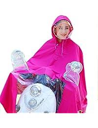 ローズレッド 防水 乗る レインコート 女性 電気自動車 大人 厚い ポンチョ