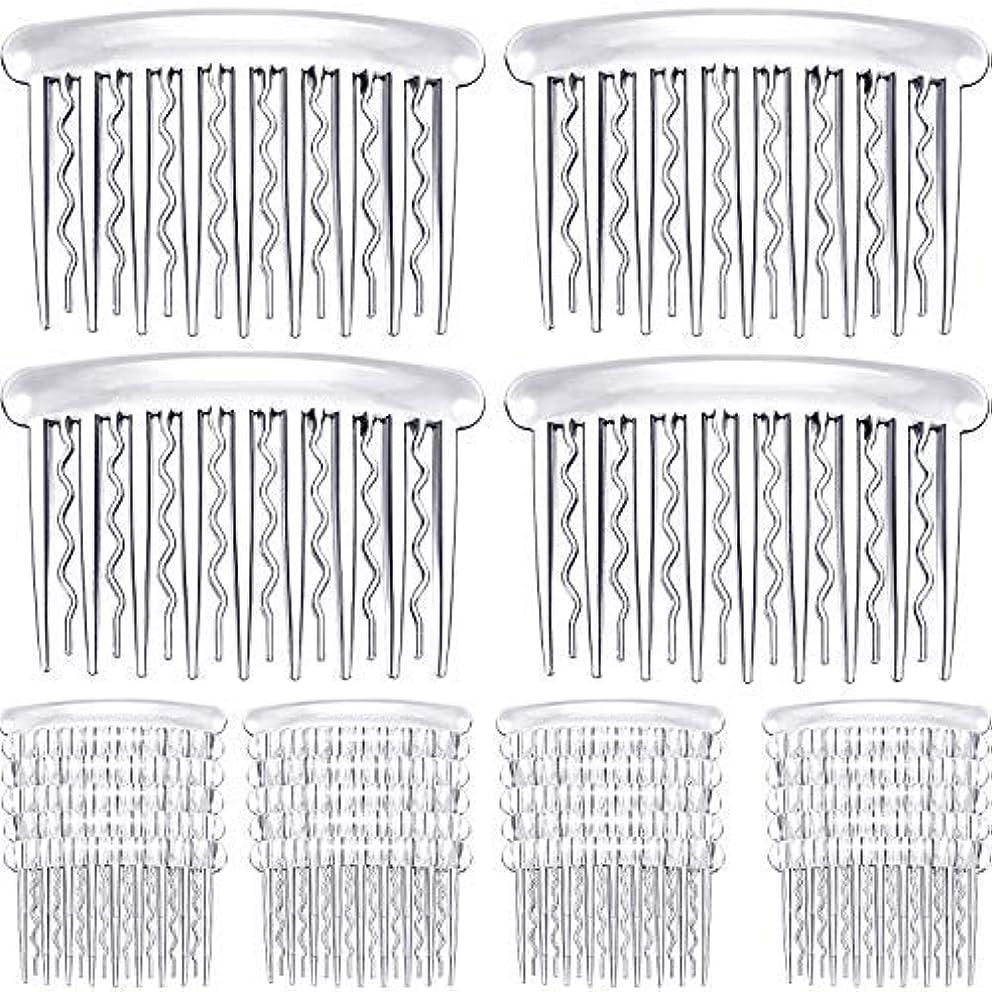 24 Pieces Plastic Hair Side Combs Wave Teeth Hair Combs Hair Clip Comb Bridal Wedding Veil Comb for Fine Hair...