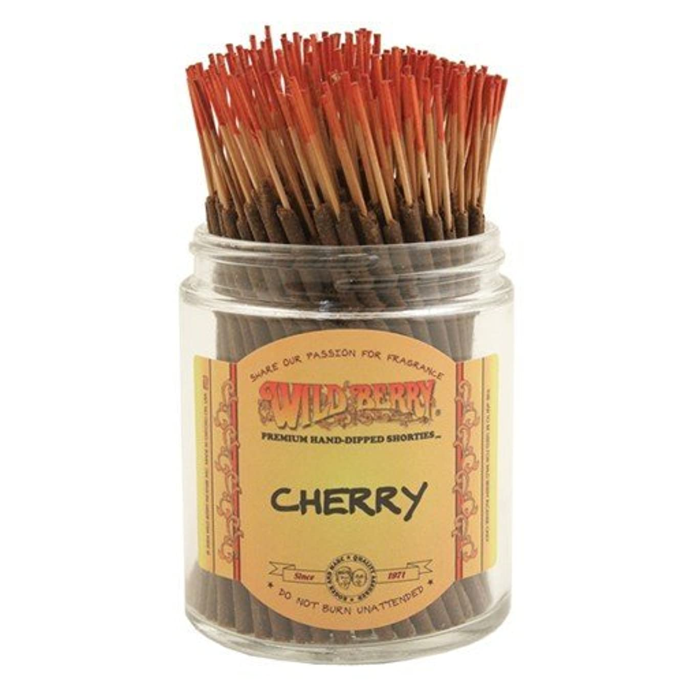 刺繍染色歯科のWildberry Cherry Shorties Incense Sticks 100pack [並行輸入品]
