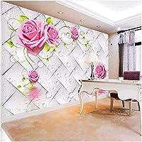 Xbwy 3Dステレオ水滴花壁画壁紙リビングルームTvソファの背景-150X120Cm
