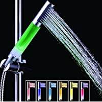 LEDハンドヘルドシャワーヘッド、7色温度センサーシャワーヘッド、ABS材質