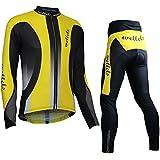 Wellcls 長袖 サイクルジャージ 上下セット サイクルウェア サイクリングウェア 自転車 サイクリング