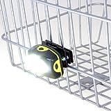 【前カゴ取付専用】超広角160度配光 LEDサイクルライト 150ルーメン(ハンドル装着ライトのように荷物で光が遮られません)