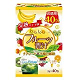 ユーワ おいしいフルーツ青汁 チアシード&16種の雑穀 完熟バナナ味 120g(3g×40包) 4427【人気 おすすめ 】