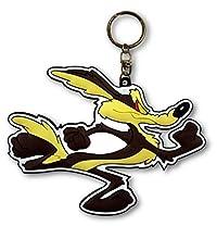 ラバーキーチェーン 【Looney Tunes】 ルーニーテューンズ キャラクター ロゴ 3D キーホルダー 並行輸入 アメリカン雑貨 (Coyote)