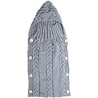 ベビーおくるみブランケットamazingdeal幼児暖かいウールニットSwaddling Wrap Sleepingバッグ