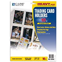 C-Line Collector's Edition Trading Card Holder Pages, Top Load, 11.25 x 9 Inches, 10 per Pack (62590) by C-Line [並行輸入品]