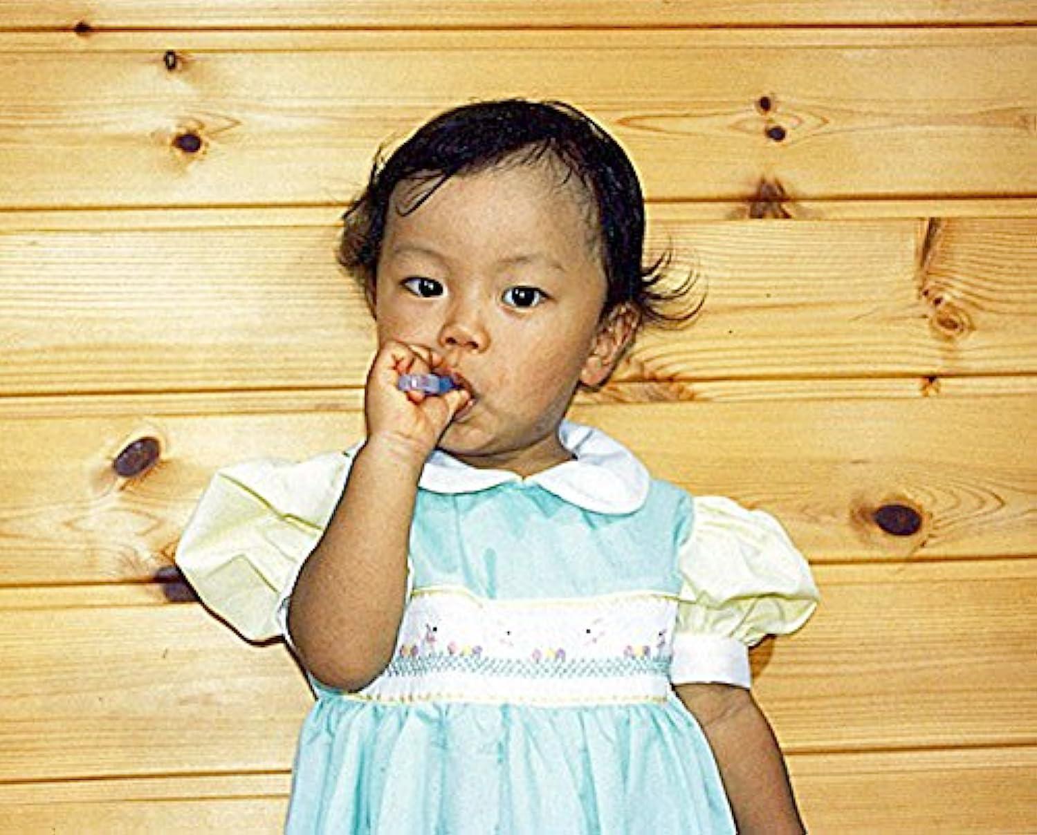 品種豆団結するオーラルケア 歯ブラシ カミカミソフト歯ブラシ ブルー/ピンク 2個組み