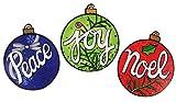 喜び、平和、ノエルクリスマスオーナメント自動カーマグネットセット、3のパック