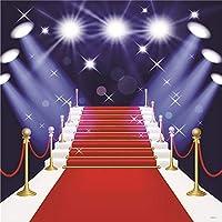 ケイト 8X8フィート (250cmX250cm) 写真撮影用背景 ステージ照明 赤いカーペット 写真背景