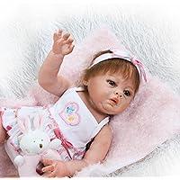 リアルなフルボディビニールシリコン20インチ50 cm Real Life Like Rebornベビーガール人形リアルなTrue Looking新生児人形幼児おもちゃクリスマスギフトFree Magnet Pacifier