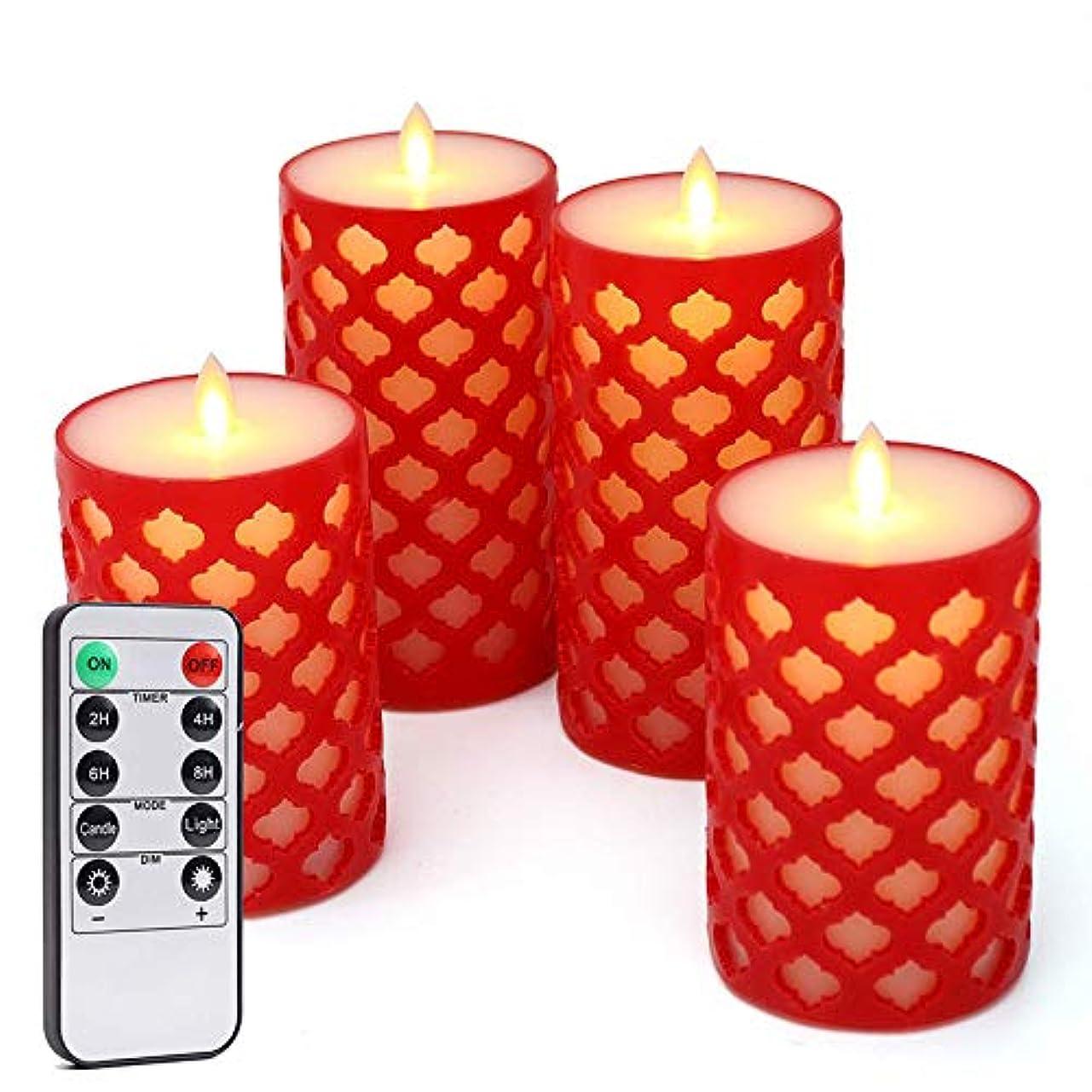 配列速報リビングルーム円筒型振動シミュレーション炎電子制御式キャンドルライトスイッチ、リモコンLEDキャンドルライト(バッテリーなし)5箱