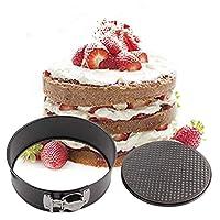 lily's JP home ケーキ型 スライド底取れ式 バネ式 デコ型 焼き型 ケーキ作り道具 製菓用 調理器具 丸型 スチール製 フック付き (24cm/9.5寸)