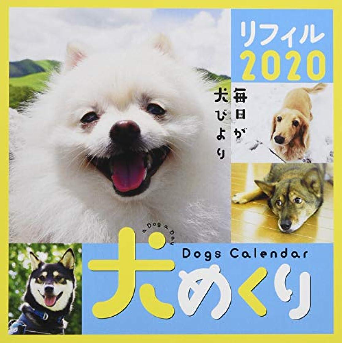 犯罪液化する平らなシーオーツー 犬めくり 2020年 カレンダー リフィル 日めくり CK-D20-02