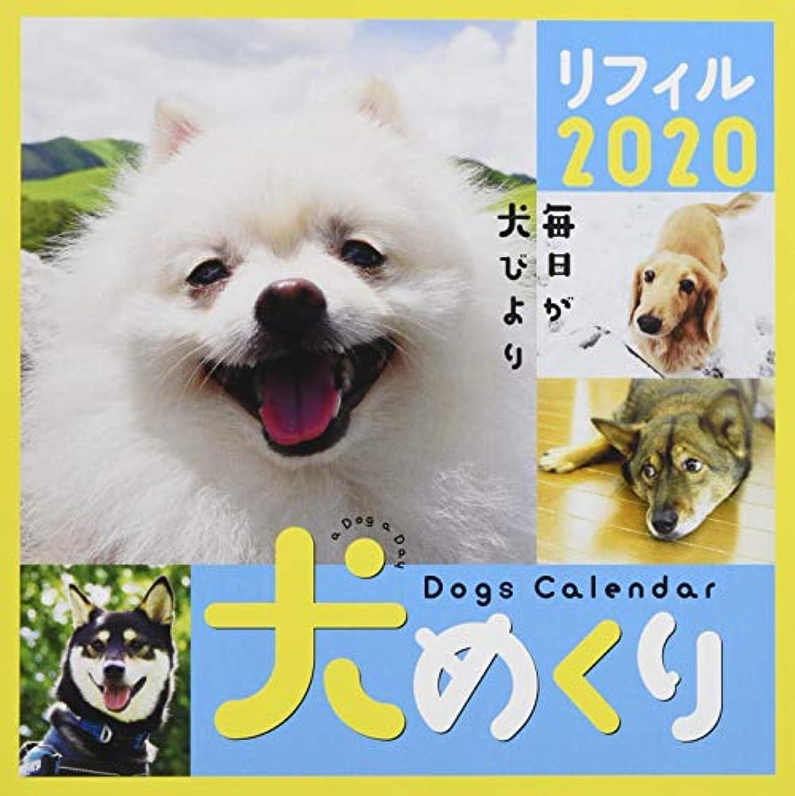 十分に興奮セールシーオーツー 犬めくり 2020年 カレンダー リフィル 日めくり CK-D20-02